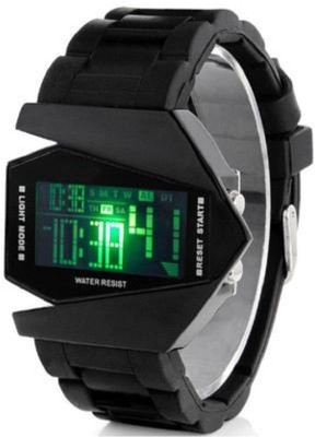 Mi TRANGLE LED SELICON WATCH +ALARM+7 CHANGING LIGHT BEST GIFT FOR FRIENDS Digital Watch  - For Men