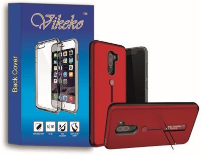 Vikeko Back Cover for POCO F1(Red, Shock Proof, Rubber, Plastic) at flipkart
