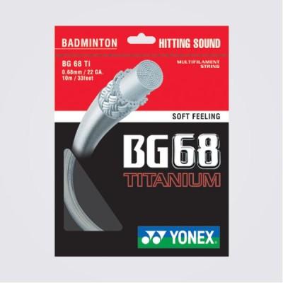 Yonex BG68TITANIUM 0.68 Badminton String   10 m White
