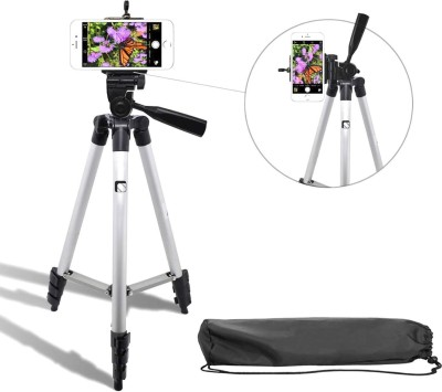 Syvo 3110 Portable Digital Camera Mobile Stand Tripod, Tripod Kit, Monopod(Silver, Supports Up to 1500 g)