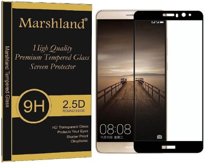 Marshland Tempered Glass Guard for Huawei Mate 9, 0.3mm 9H Hardness, Bubble-Proof Anti Shock/Shatter/Scratch Tempered Glass, Black