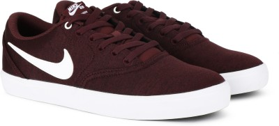 Nike SB CHECK SOLAR CNVS PRM Sneakers For Men(Burgundy)