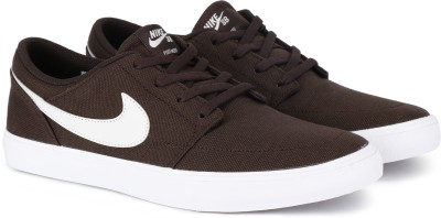Nike SB PORTMORE II SOLAR CNVS Sneakers For Men(Brown) 1