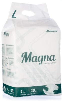 Romsons Magna Adult Diapers - L(10 Pieces)
