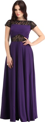 Raas Pret Women Gown Maroon Dress