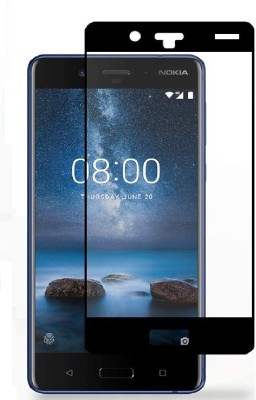 SAVD Tempered Glass Guard for Nokia 8 Edge TO Edge Curved Glass Guard Tempered Screen Protector High Premium Quality 9H Hardness 0.3mm Ultra Clear (Black)(Pack of 1)