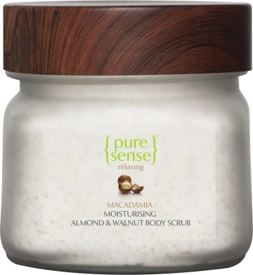 PureSense Moisturising Almond & Walnut Body Scrub- Macadamia & Almond Oil Scrub(200 g) 1