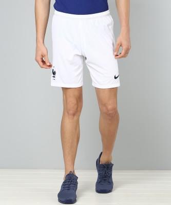 Nike Self Design Men's White Sports Shorts