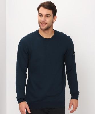 REEBOK Full Sleeve Solid Men Sweatshirt at flipkart