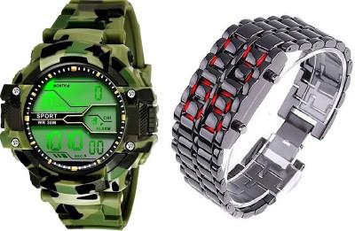 watch fine army-dark-chain Digital Watch  - For Boys