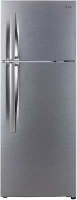 LG 284 L Frost Free Double Door 3 Star Refrigerator(Dazzle Steel, GL-C302KDSY) 1