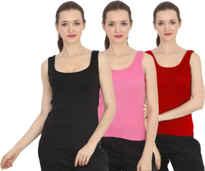 Chilee Life Casual Sleeveless Solid Women's Black, Pink, Maroon Top