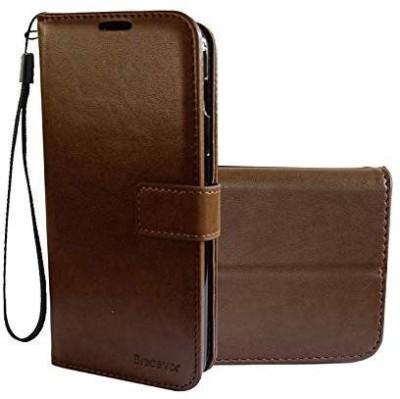 Bracevor Flip Cover for OnePlus 6T, OnePlus 6T Brown Bracevor Plain Cases   Covers