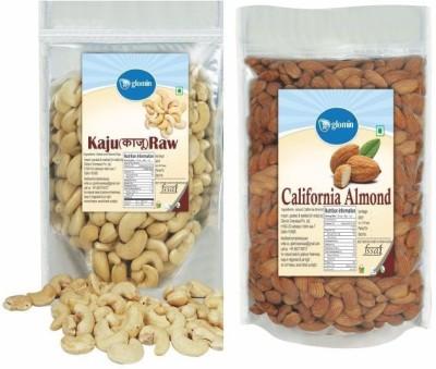 Glomin Kaju & Almond Combo 250g Cashews(500 g, Pouch)