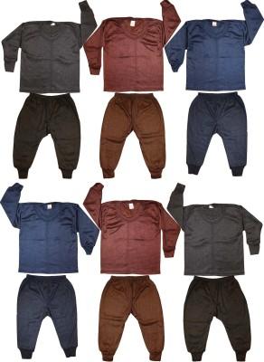 Kifayati Bazar Top - Pyjama Set For Boys & Girls(Multicolor, Pack of 6)
