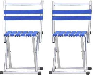 Tied Ribbons Metal Outdoor Chair(Finish Color - Blue)