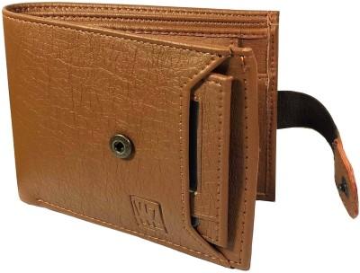Wenzest Men Formal Tan Artificial Leather Wallet(6 Card Slots)