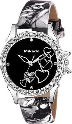 Mikado Black Artistic designer watch for Girls And Women Watch  - For Girls