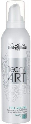L'Oreal tecni art full volume mousse volume 4 hair styler Hair Mousse(250 ml)