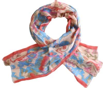 linens and buttons Geometric Print, Graphic Print Cotton Linen Blend Women Stole