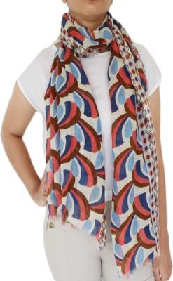 linens and buttons Graphic Print, Polka Print Cotton Linen Blend Women Stole