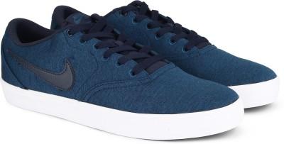 Nike SB CHECK SOLAR CNVS PRM Sneakers For Men(Blue) 1