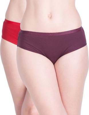 Lux Lyra Women Hipster Multicolor Panty(Pack of 2)