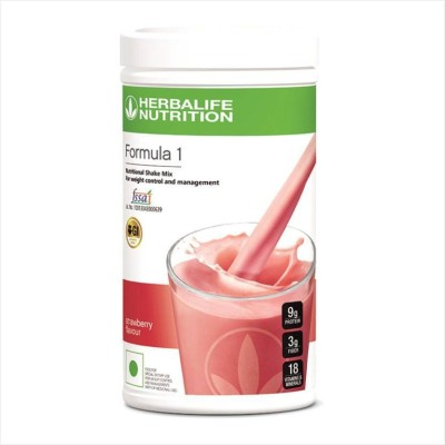 Herbalife Herbalife Formula 1 Strawberry Nutritional Shake Mix Nutrition Drink Protein Blends(500 g, strewberry)