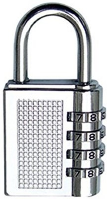 ZIGLY 4-Digit Safe PIN Hand Bag Shaped Combination Lock Safety Lock(Silver)