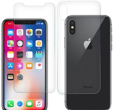 MudShi Front and Back Tempered Glass for Apple iPhone XS(Pack of 2)