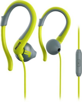 Philips SHQ1255TLF/00 Wired Headset with Mic(Chartreuse Green, Over the Ear)