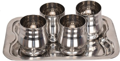LiMETRO SS-TRAY-GLASSESG2-4 Glass Tray Set(Stainless steel)