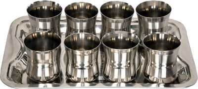LiMETRO Stainless Steel G4-8 Glass Tray Set(Stainless steel)