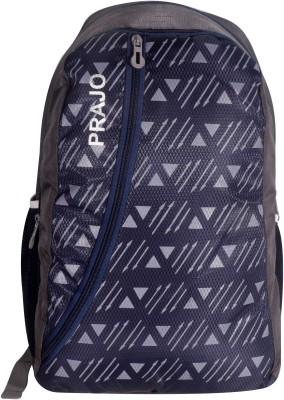 Prajo Barcelona Expandable School Bag School Bag(Blue, 21 L)