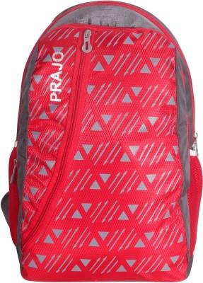 Prajo Barcelona Expandable School Bag School Bag(Red, 21 L)