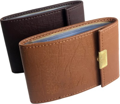 IzcorpIndia 10 Card Holder(Set of 2, Tan, Brown)