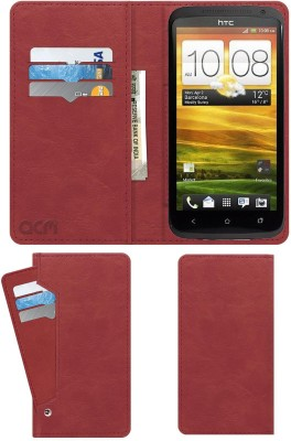 ACM Flip Cover for Htc One X(Pink, Cases with Holder)