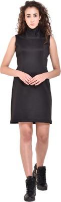 Fuegobella Women Sheath Black Dress