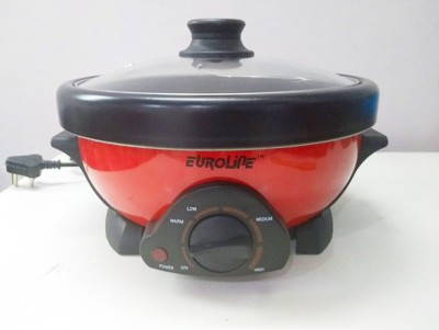 euroline EL-025 Electric Rice Cooker(2, Black & Red) at flipkart