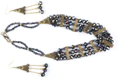 Bbl Glass Jewel Set Black Bbl Jewellery Sets