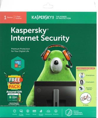 KASPERSKY Internet Security latest version 1 User 1 Year 1 PC 2018