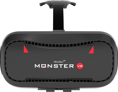 Irusu Monster vr headset Box with built in touch button virtual reality headset for all mobiles(Smart Glasses, Black)