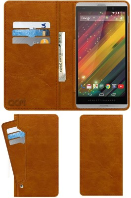 ACM Flip Cover for Hp Slate 6 Voicetab 2(Gold, Cases with Holder)