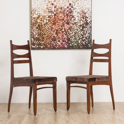Durian ELLISON/S Solid Wood Dining Chair(Set of 2, Finish Color - Brown)