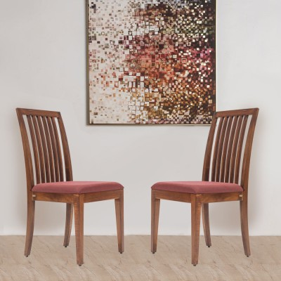 Durian CORAL/S Solid Wood Dining Chair(Set of 2, Finish Color - Brown)
