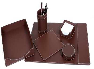 Nora Leather Office accessories  Office Set(Brown) at flipkart