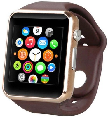 K V ELECTRONICS Square Dial Wrist Smart Band/Watch- Bluetooth with Built-in Sim card and Memory card slot, Fitness Tracker, With call function, Video recorder, Compatible with All Android Mobiles (GOLD Silicon/Rubber Strap Regular) Smartwatch(Gold Strap FREE)