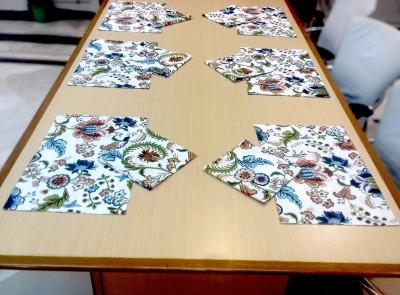 Miyanbazaz textiles Multicolor Organic Cotton Table Linen Set(Pack of 12) at flipkart