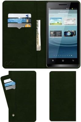 ACM Flip Cover for Karbonn Smart A7 Star(Green, Cases with Holder)