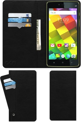 ACM Flip Cover for Videocon Cube 3(Black, Cases with Holder)